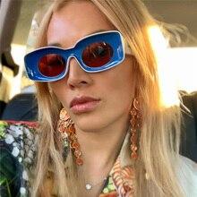 Luxury Brand Designer Square Sunglasses Women Men Candy Colo