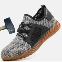 Sicherheit Schuhe Licht Atmungs Frau Und Männer Werden Anwendbar Outdoor Stahl Kappe Schutzhülle Anti-slip Punktion Beweis Sicherheit Schuhe