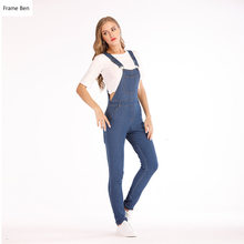 Spring New 2019 Summer Women Boyfriend Cool Ripped Denim Jumpsuit Casual High Waist Sleeveless Jumpsuits Plus Size(China)