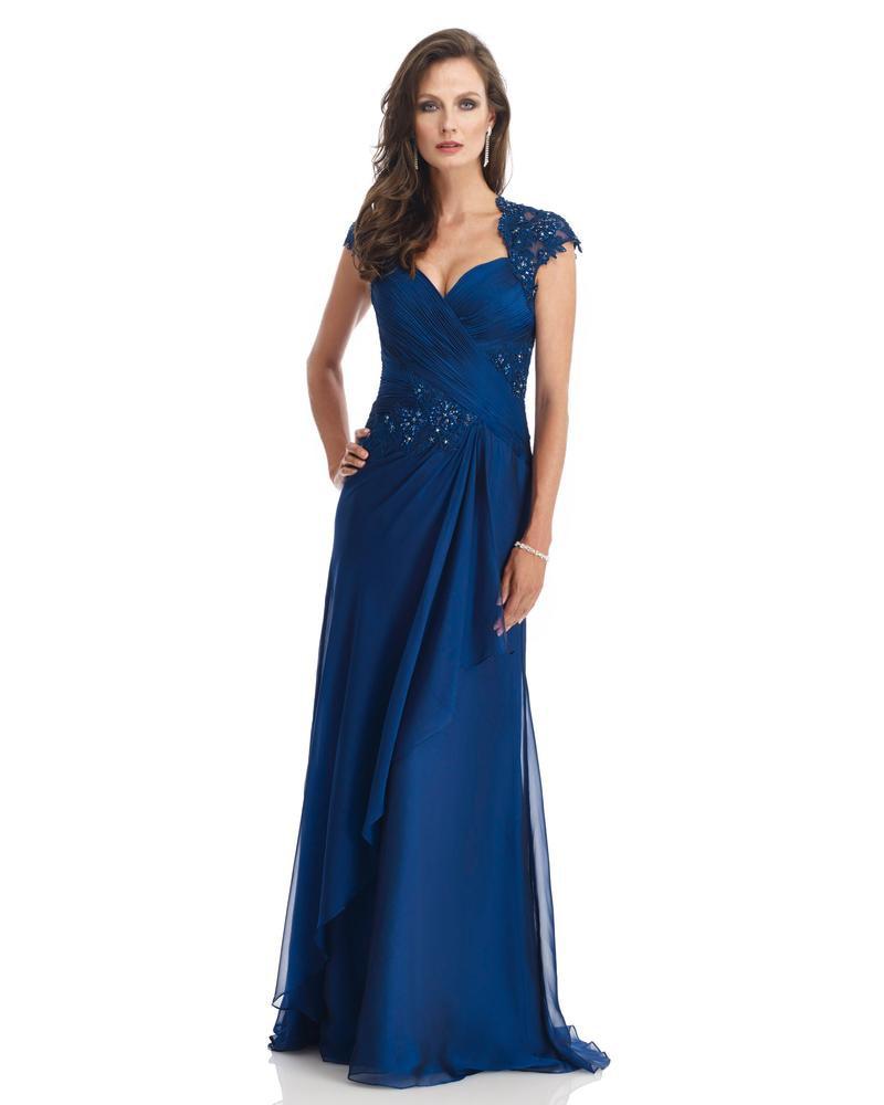MM871 Plus Size Gorgeous Abiye Dubai Evening Dresses Navy Blue Cap Sleeves Brides Mother Dresses For Weddings Gelin Anne Elbise