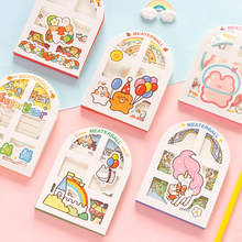 Creative Cartoon Animal Memo Pad Cute Notebooks Writing Pads School Office Stationery Supplies Girls Gift Decoration Card(China)