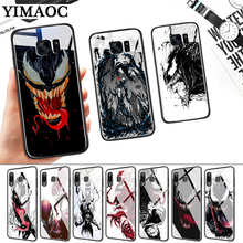 Venom comic Glass Case for Samsung S7 Edge S8 S9 S10 Plus S10E Note 8 9 10 A10 A30 A40 A50 A60 A70 стоимость