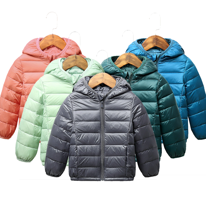 От 2 до 9 лет Детская куртка для девочек детские куртки-пуховики на 90% белом утином пуху для мальчиков зимняя одежда с капюшоном для девочек т...