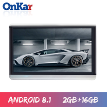 ONKAR Android 8.1 Car Headrest Monitor 2+16GB 1920*1080 HD 1080P Support Mirror Link Wifi FM Radio Mp4 SD HDMI av in/out 2019 цена