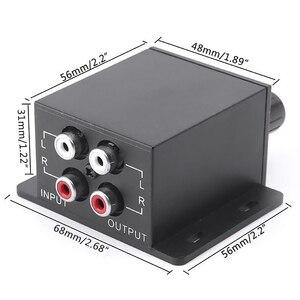 Image 4 - New Car Amplificatore di Potenza Audio Regolatore Bass Subwoofer Equalizzatore di Crossover Controller 4 Rca Regolare Linea di Livello di Volume Amplificatore