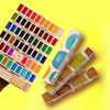 18/38/58 Colors Watercolour Paint Solid Painting Set Screen Type Paint Box Dispensed Portable Art Supplies Watercolor Artist