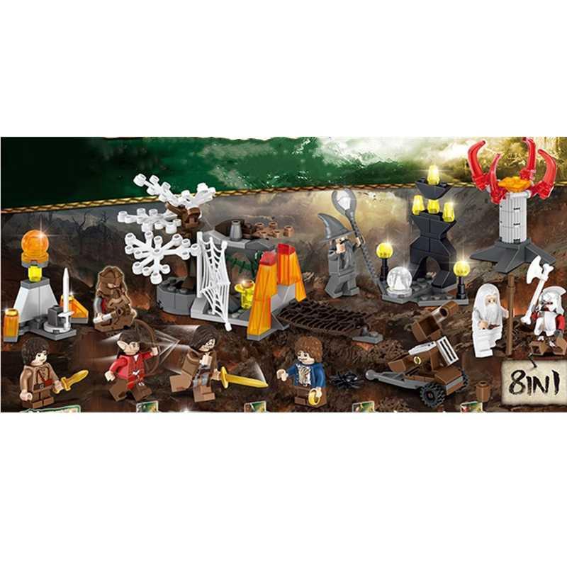 Building Blocks The Hobbit Lord of the Rings Cartoon Figure Model Toys DIY 8PCS