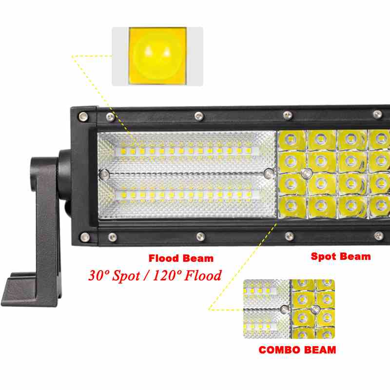 """Image 3 - VISORAK 22 32 42 52"""" Four Row Straight Curved LED Light Bar 4x4 4wd Offroad LED Bar For Car Boat 4WD 4x4 Truck SUV ATV Jeep-in Light Bar/Work Light from Automobiles & Motorcycles"""