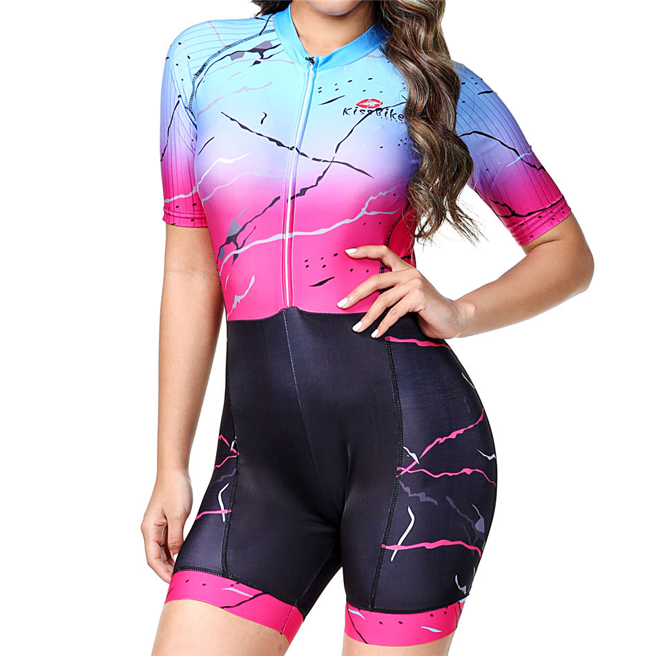 Triathlon women cycling clothes suit High qualit custom fitness suit blusas mujer de moda 2019 go pro roupa de ciclismo skinsuit in Cycling Sets from Sports Entertainment