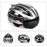 Inbike ciclismo capacete ultraleve capacete da bicicleta dos homens de montanha estrada mtb óculos à prova vento capacete com lente