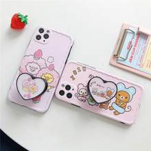 For iphone 11 Pro Max Precise hole support cute Rilakkuma fashion soft phone case for iPhone 7 7plus 8 8plus X XR XS MAX cover(China)