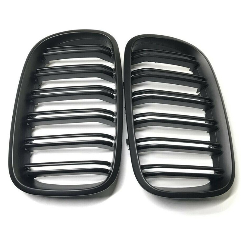 Gloss Bright Black Car Front Bumper Line Kidney Grill Grilles for Bmw X5 E70 X6 E71 2007-2014