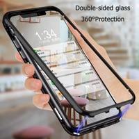 360 custodia in metallo ad adsorbimento magnetico per Xiaomi Redmi Note 10 9 8 7 Pro 8T 9T 9A 9C 8A Mi 11 10T Note10 Lite Poco M3 X3 Pro Cover
