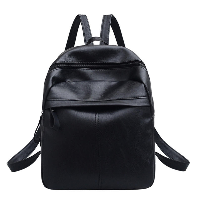 Pu Leather Backpack Fashion Wild Student Bag Practical Travel Backpack