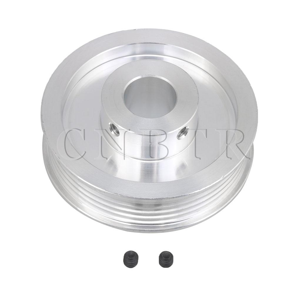 CNBTR Double-sided Hollow 14mm Inner Hole Dia 58mm Dia V-Type Belt Pulley