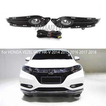 fog light+cover+wires For HONDA VEZEL HRV HR-V 2014 2015 2016 2017 2018  Front Bumper Fog Lamp Fog Lights