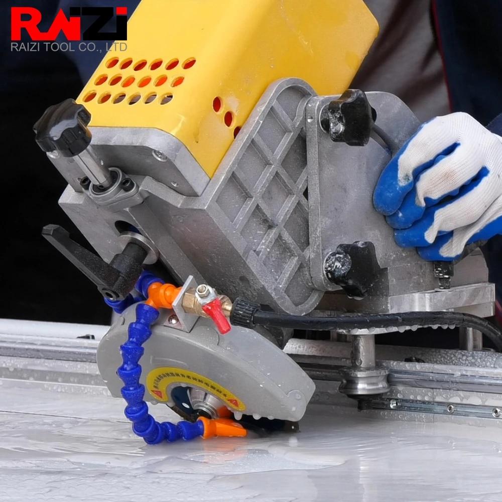 raizi 220 110 v 45 degree tile cutting saw machine with rail guide large format porcelain ceramic tile portable cutting machine