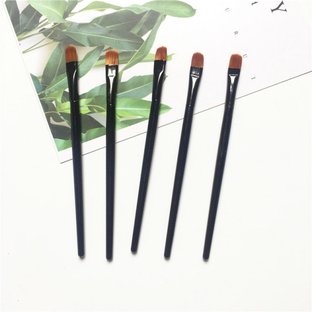 1/2/5PCS Lip Eyebrow Brush Beauty Round Makeup Brush Smudge Eye Shadow Concealer Brush Eyebrow Comb Makeup Accessories 3