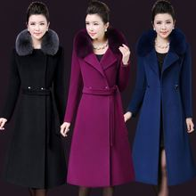 Elegant Solid Woolen Winter Warm Coats Slim Pockets Office W