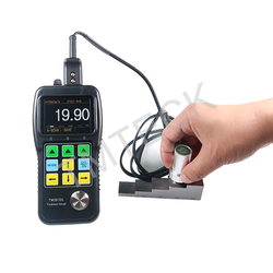 Ultrasonic thickness gauge/thickness testing/ ultrasonic tester with A&B Scan and through coating and paint TM281DL