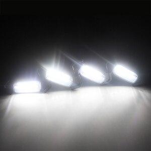 Image 5 - 4 Stuks Gerookte Lens Amber Led Grille Licht Samenstellingen Met Kabelboom Kit Voor 16 Up Toyota Tacoma W/Trd Pro Grill 12V