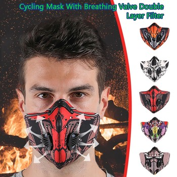 Unisex Cycling Sport Face Masks Activated Carbon Filter Replaceable Running Training Bike Cycling Maske Outdoor Respirator New