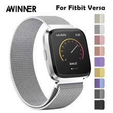 Strap Metal Stainless Steel Band For Fitbit Versa Strap Wrist Milanese Magnetic Bracelet fit bit Lite Verse 2 Band Accessories magnetic milanese loop watchbands stainless steel smartwatch strap wristwatch band 17mm for fitbit charge 2