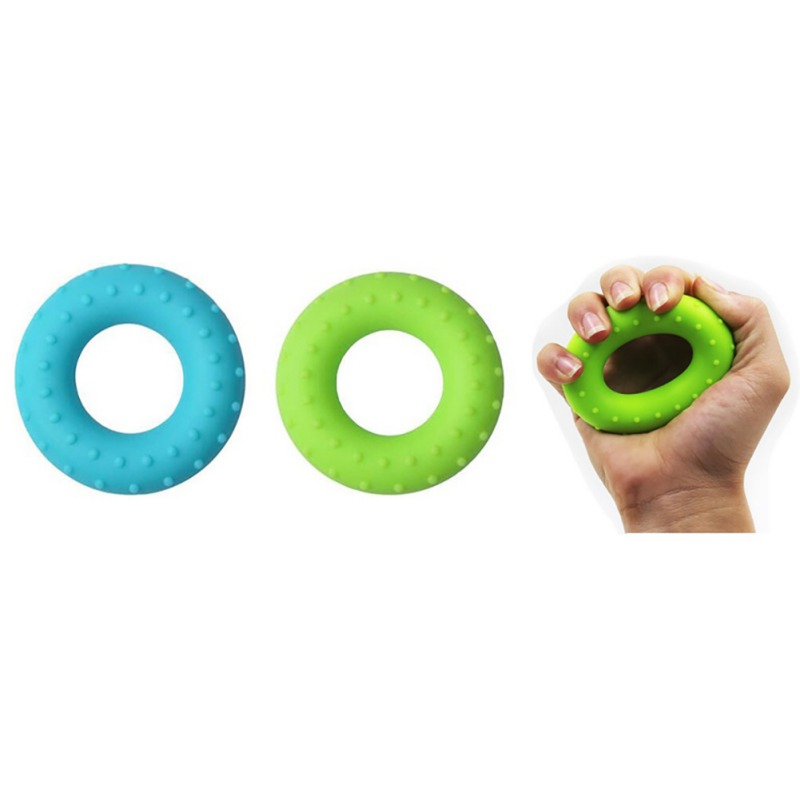 Silica Gel Portable Hand Grip Gripping Ring Carpal Expander Finger Trainer Grip Strength Rehabilitation Stress Ring Forearm Ring