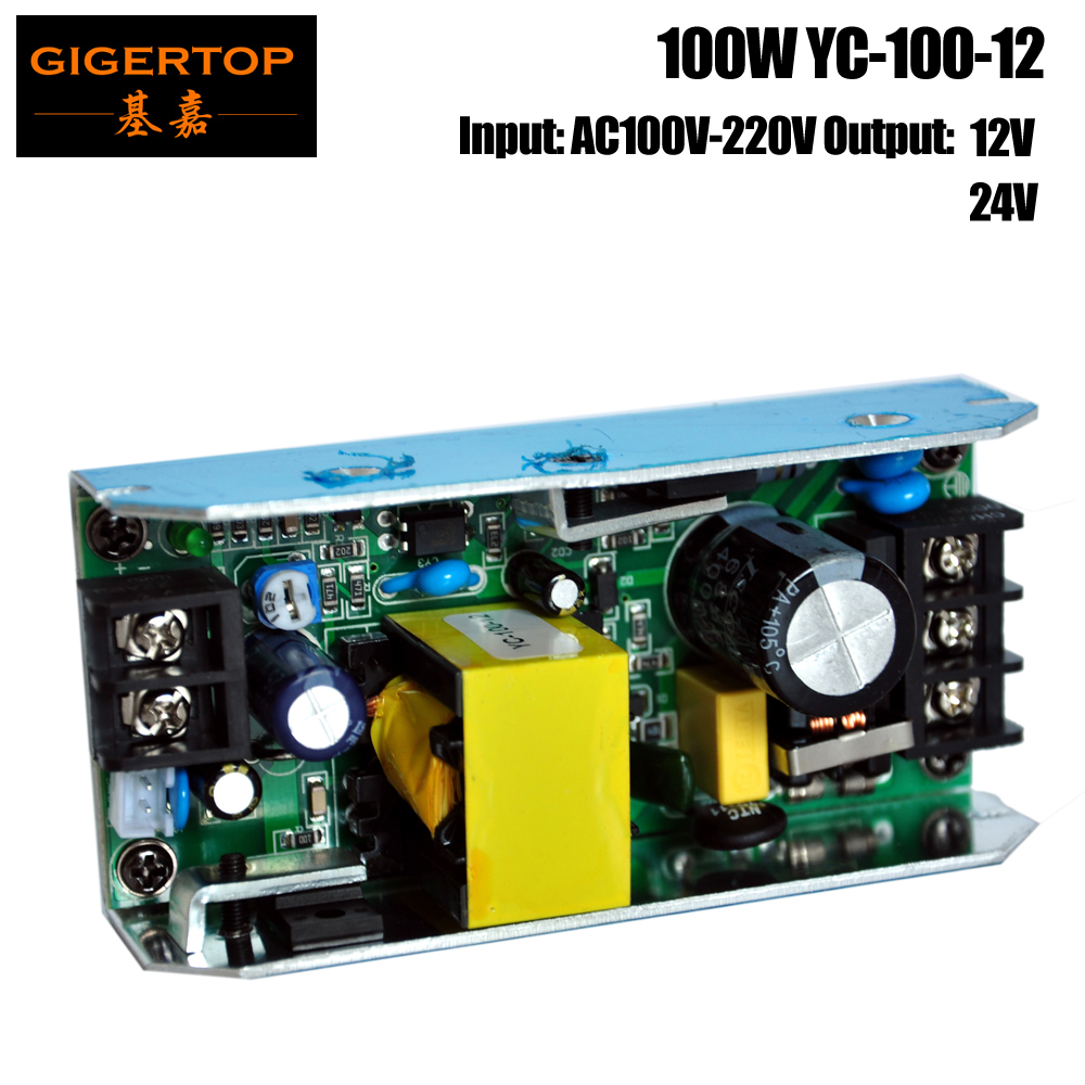 TIPTOP YC-100-<font><b>12</b></font> 100W 12V 24V Output 54 x 1W <font><b>RGB</b></font> <font><b>Led</b></font> <font><b>Par</b></font> Light Power Supply 100 Watt for Home Room Dance Parties Bar Karaoke Xas image