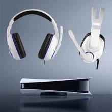 Auriculares estéreo con cable para PS5, auricular de juego con cable para TV, VR, 3D, accesorios para PS5, PS4, XBOX ONE, PC, jugadores