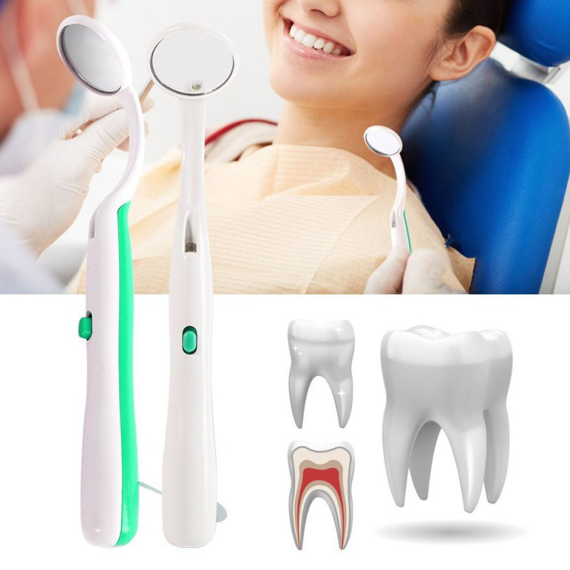 1pcs LED Light Teeth Oral Mirror Super Bright Mouth Mirror Illuminated Tooth Care Tool Oral Hygiene Machine