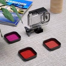 Для GoPro Hero 8 Спортивная камера Дайвинг защитный чехол фильтры для Gopro8 черный Дайвинг камера видеокамера защитный