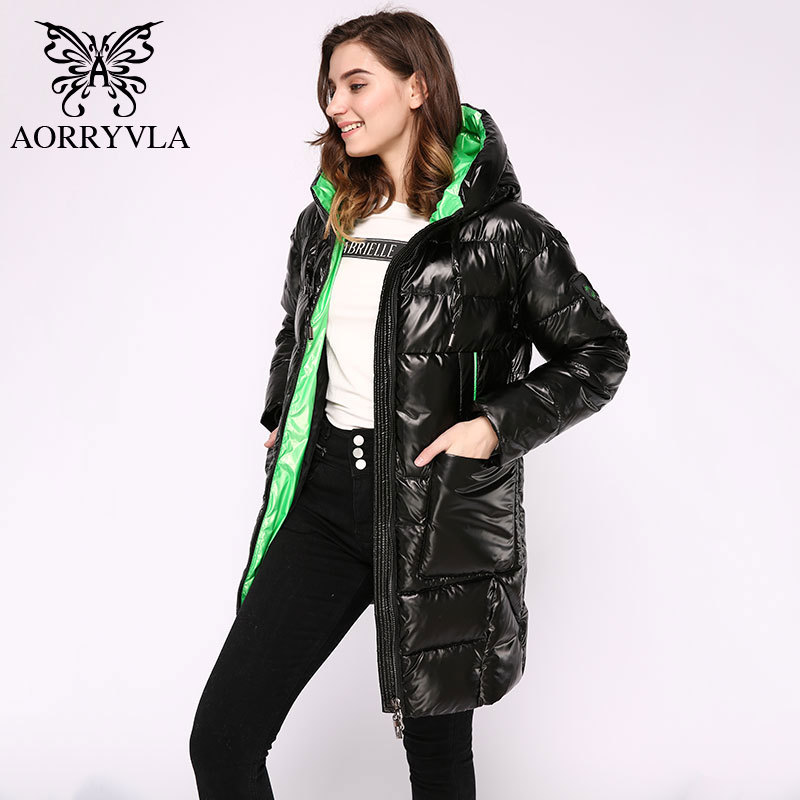Image 5 - AORRYVLA 2019 Winter Womens Fashion Jacket Long Women Down  Jacket Thick Warm Hooded Coat Female Parka Winter Jacket CasualParkas