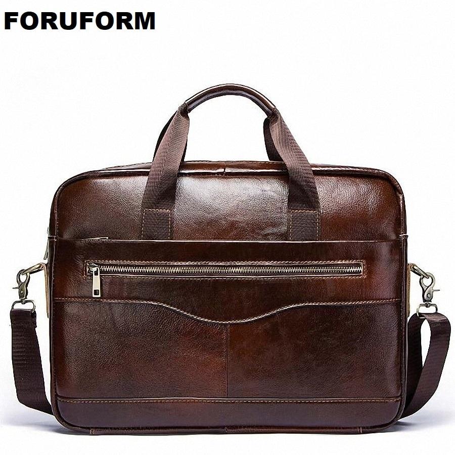 Men's Genuine Leather Briefcase Male Man Laptop Bag Natural Leather For Men Messenger Bags Men's Briefcases