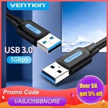 Vention USB 3,0 Удлинительный кабель Тип A кабель «Папа-папа» 3,0 2,0 УДЛИНИТЕЛЬ шнур для жесткого диска TV Box Ноутбук USB к USB кабелю