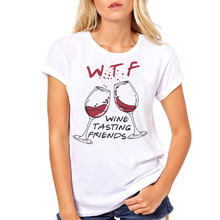 Women Clothes Wine Tasting Friends Letters Beer Wine Summer Print Ladies Woman H