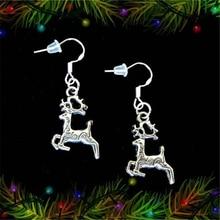 цена на Reindeer Earrings Reindeer Dangle Earrings Christmas Earrings Winter Earrings Winter Jewelry