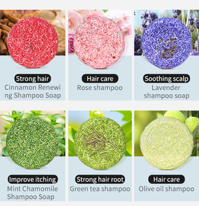 Dropship Fashion Handmade Hair Shampoo Soap Cold Processed Shampoo Bar 100% Pure Plant Hair Shampoos Hair Care 12 Colors TSLM1