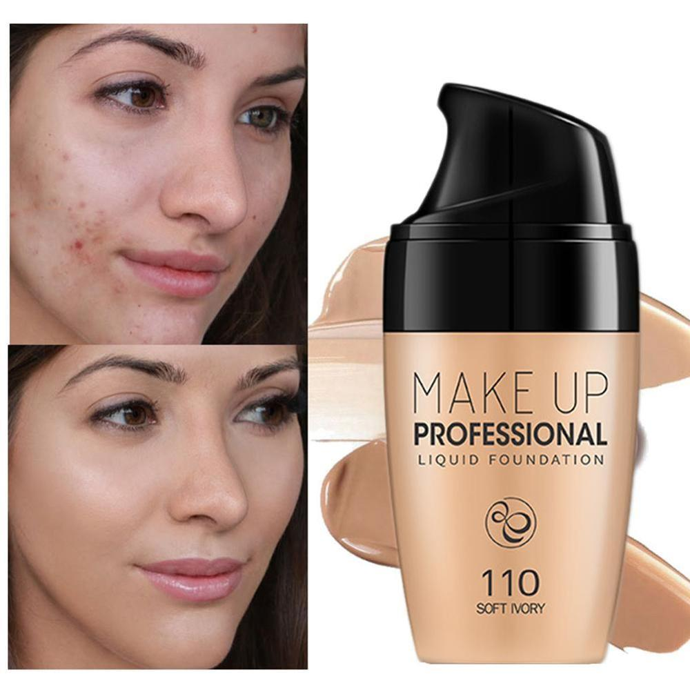 30ml Smooth Silk Serum Foundation Professional Full Coverage Matte Liquid Foundation Face Base Makeup Concealer image