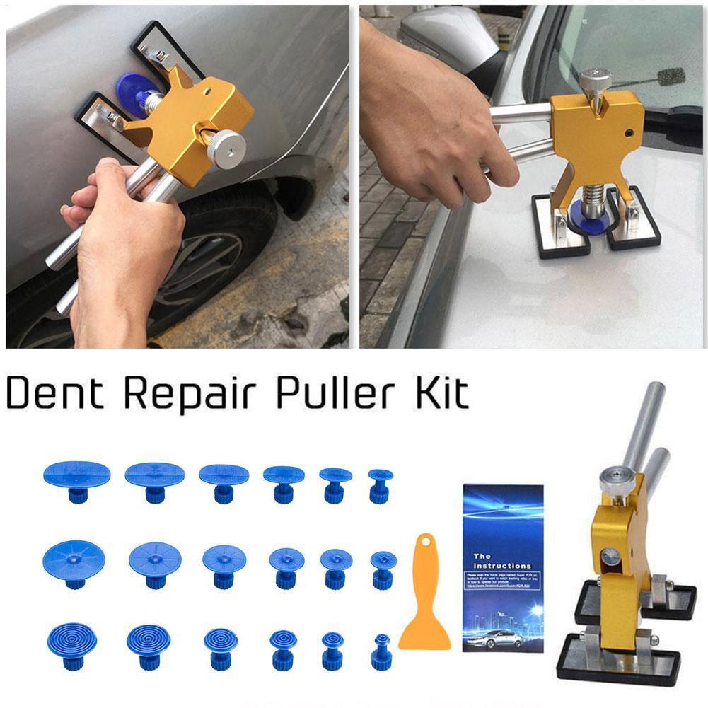 Безболезненные Инструменты для ремонта вмятин, набор для ремонта вмятин, автомобильный вмятин с вкладками для удаления клея, автомобильный...