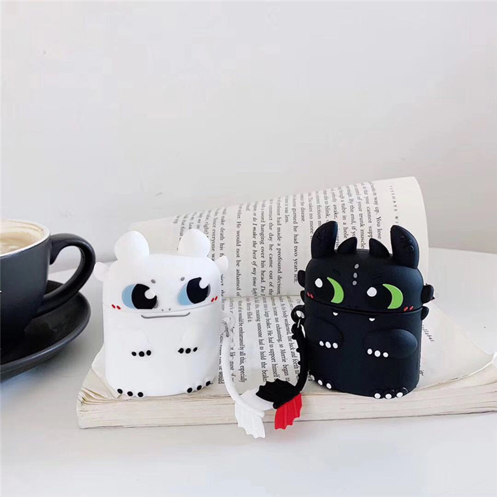 For AirPods 1 2 New Night Fury Light Train Dragon Silicone Wireless Earphone Charging Cover For Apple AirPods 1 2 Bluetooth Case