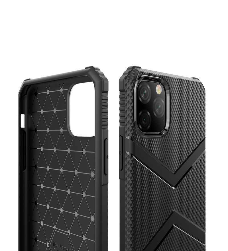 Para iPhone 11 Pro MAX funda de silicona suave funda militar a prueba de golpes para iPhone 6 6S 7 8 Plus X XS X MAX XR casos de teléfono