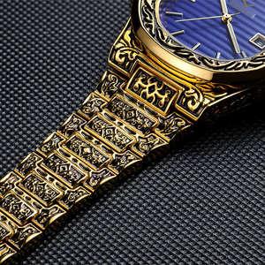 Image 5 - ONOLA Produto genuíno de luxo homens relógio de quartzo origem 2019 unique ouro clássico relógio de pulso à prova d água Do Vintage moda casual homens relógio de ouro