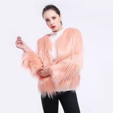 Odzież z futrem krótki długi rękaw duży rozmiar shui xi mao Lambs wełna sztuczne futro odzież z futrem Faux odzież z futrem płaszcz damski pływające włosy tanie tanio Fhillinuo Phyllis If Jinhua Bcd1507027