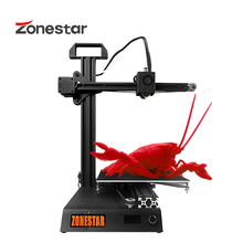 ZONESTAR Z6 Schnelle Installieren Günstige Bildung Studen der Tasche Mini 3D Drucker Hohe Präzision Auflösung Volle Metall DIY Kit Freies schiff
