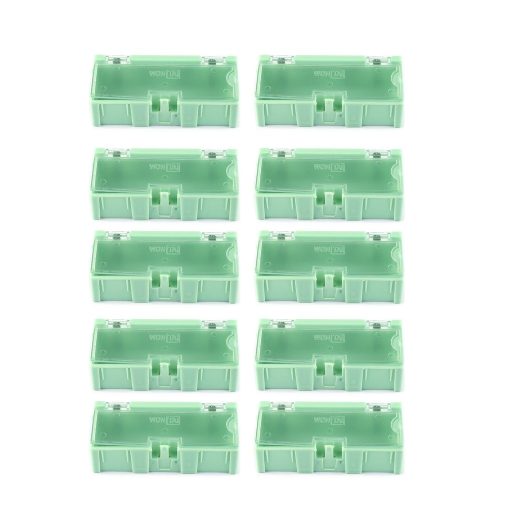 10pcs Small Tool Screw Object Electronic Component Parts Storage <font><b>Box</b></font> <font><b>Lab</b></font> Case SMT SMD Automatically Pops Up Patch Container image