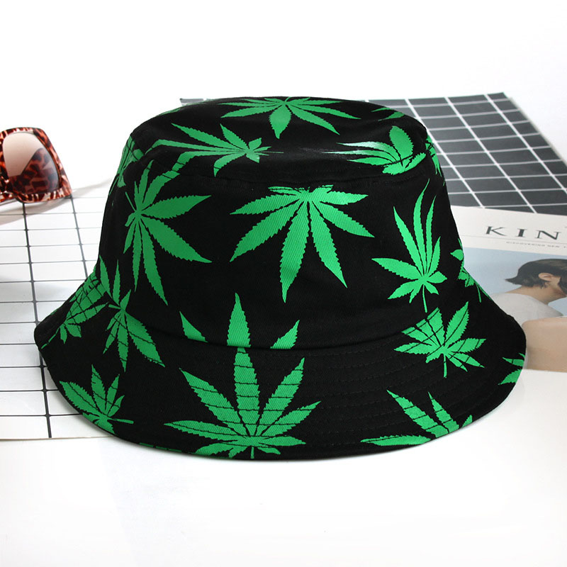 New Cotton Fishing Hat Women Men Hip Hop Cap Couple Maple Leaf Panama Bucket Hat Sun Flat Top Fisherman Hats Caps Boonie Gift