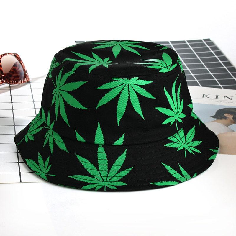 Sombrero de pesca de algodón para hombre y mujer, gorra de Hip Hop, Cubo de Panama de hoja de arce para parejas, gorra plana para el sol, gorros de pescador, regalo de Boonie