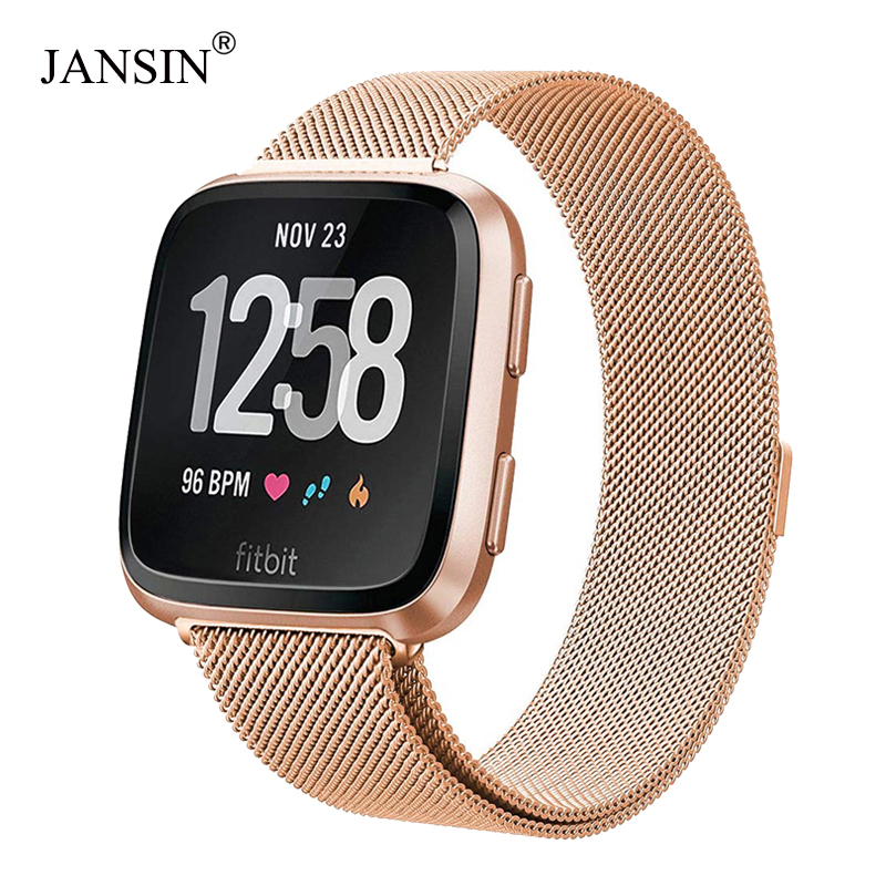 Milanese Loop Stainless Steel Band For Fitbit Versa SmartWatch Wrist Strap Bracelet For Fitbit Lite/verse 2 Band Accessories
