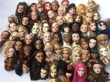 Original it cabeça fr cabeças de boneca moda royalty maquiagem cabeça adele qualidade cabeças boneca menina vestir diy brinquedo peças